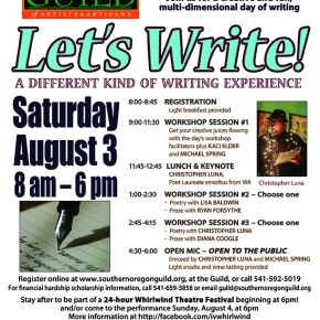 Let's Write! (writing event Aug 3)